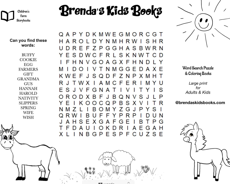 - Free Download Word Search - Brenda's Kids Books